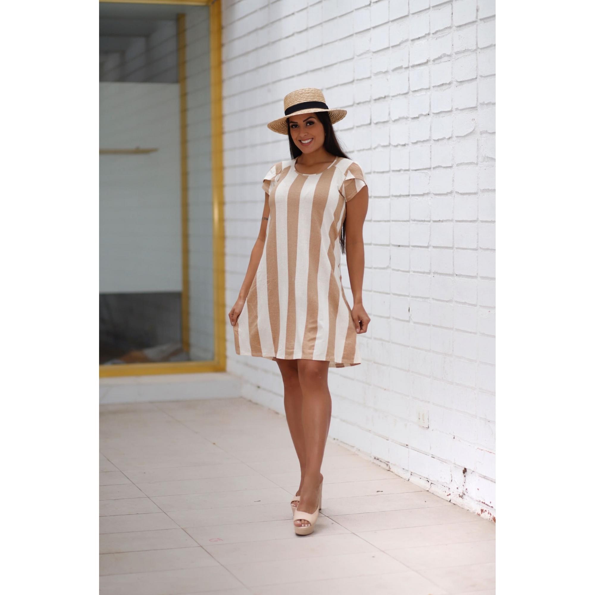 Vestido curto viscolycra m/c