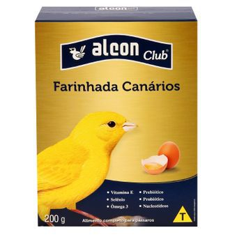 ALCON CLUB FARINHADA COM OVOS PARA CANÁRIOS 200g