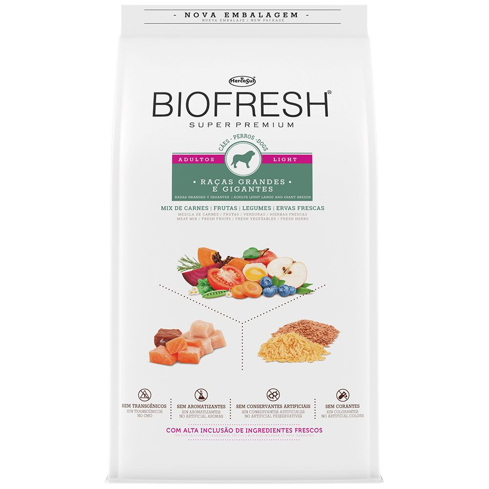 BIOFRESH LIGHT RAÇAS GRANDES 15Kg