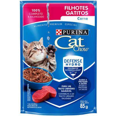 CAT CHOW SACHÊ FILHOTES CARNE 85 g