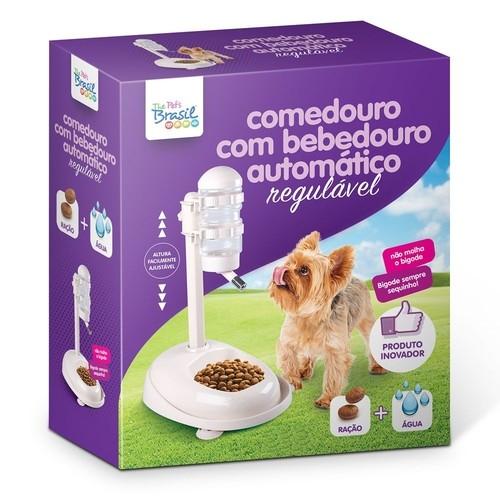 COMEDOURO E BEBEDOURO AJUSTÁVEL THE PETS