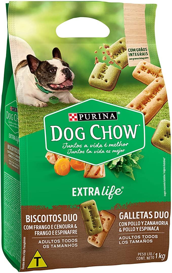 DOG CHOW BISCOITOS DUO FRANGO 1 Kg