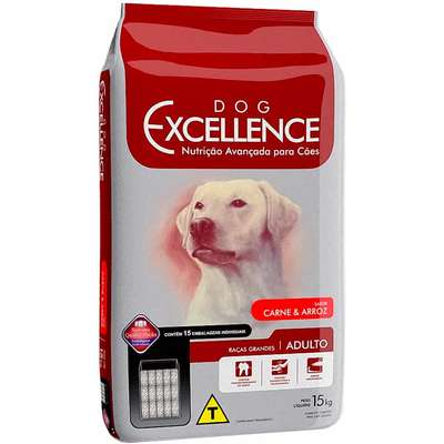 DOG EXCELLENCE ADULTO RAÇAS GRANDES CARNE 15Kg