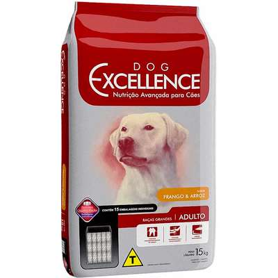 DOG EXCELLENCE ADULTO RAÇAS GRANDES FRANGO 15Kg