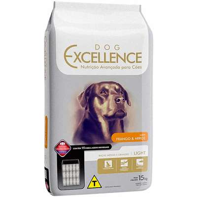 DOG EXCELLENCE LIGHT RAÇAS MÉDIAS E GRANDES 15Kg