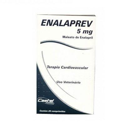 ENALAPREV 5 mg COM 20 COMPRIMIDOS