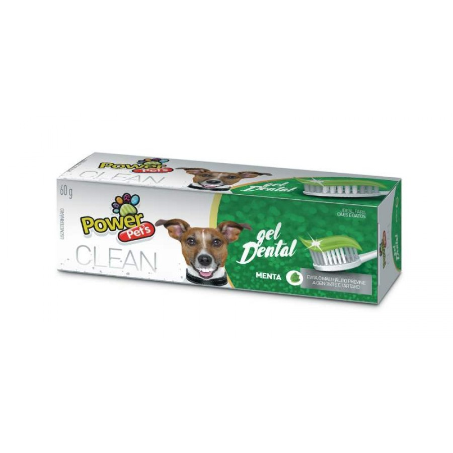 GEL DENTAL MENTA POWER PETS 60g