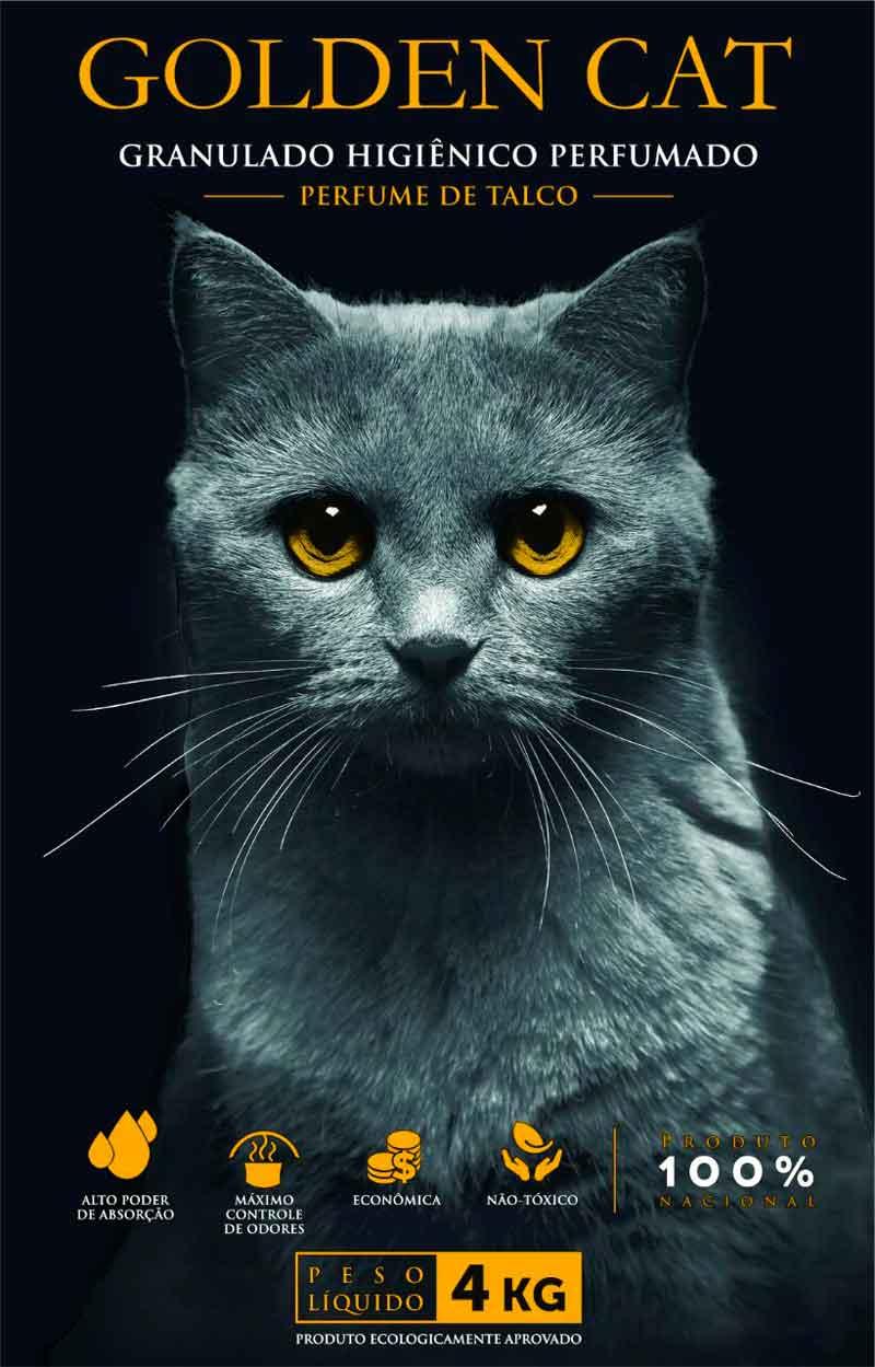GOLDEN CAT TALCO GRANULADO SANITÁRIO 4 Kg