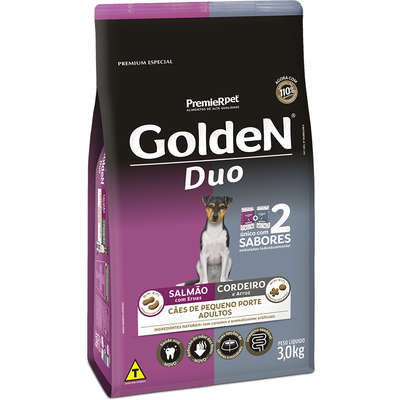 GOLDEN DUO SALMÃO E CORDEIRO MINI 3 Kg