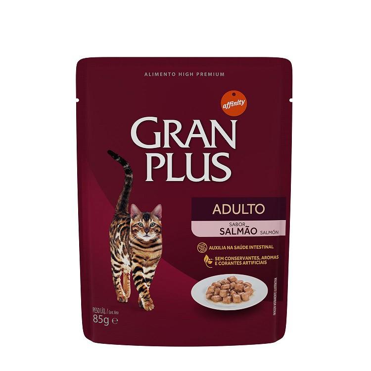 GRAN PLUS SACHÊ GATO SALMÃO 85 g