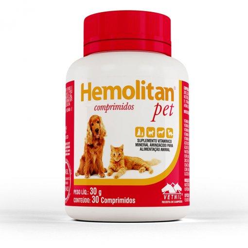 HEMOLITAN PET 30g COM 30 COMPRIMIDOS