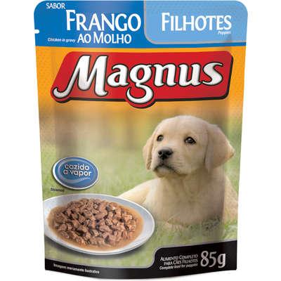 MAGNUS SACHÊ CÃO FILHOTE FRANGO 85 g