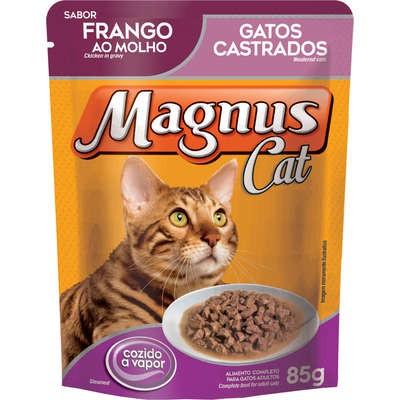 MAGNUS SACHÊ GATO CASTRADO FRANGO 85 g