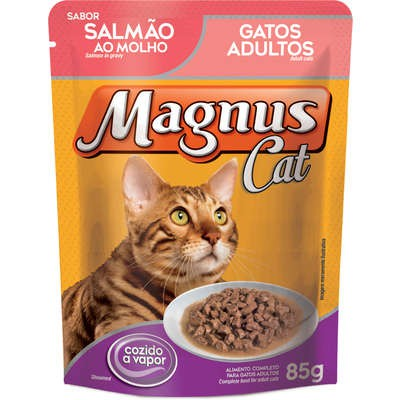 MAGNUS SACHÊ GATO SALMÃO AO MOLHO 85 g