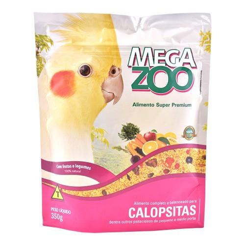 MEGAZOO CALOPSITAS FRUTAS E LEGUMES 350 g