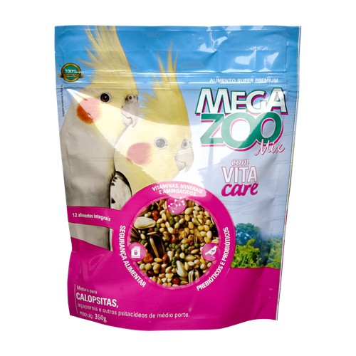 MEGAZOO MIX CALOPSITAS E AGAPORNIS 350 g