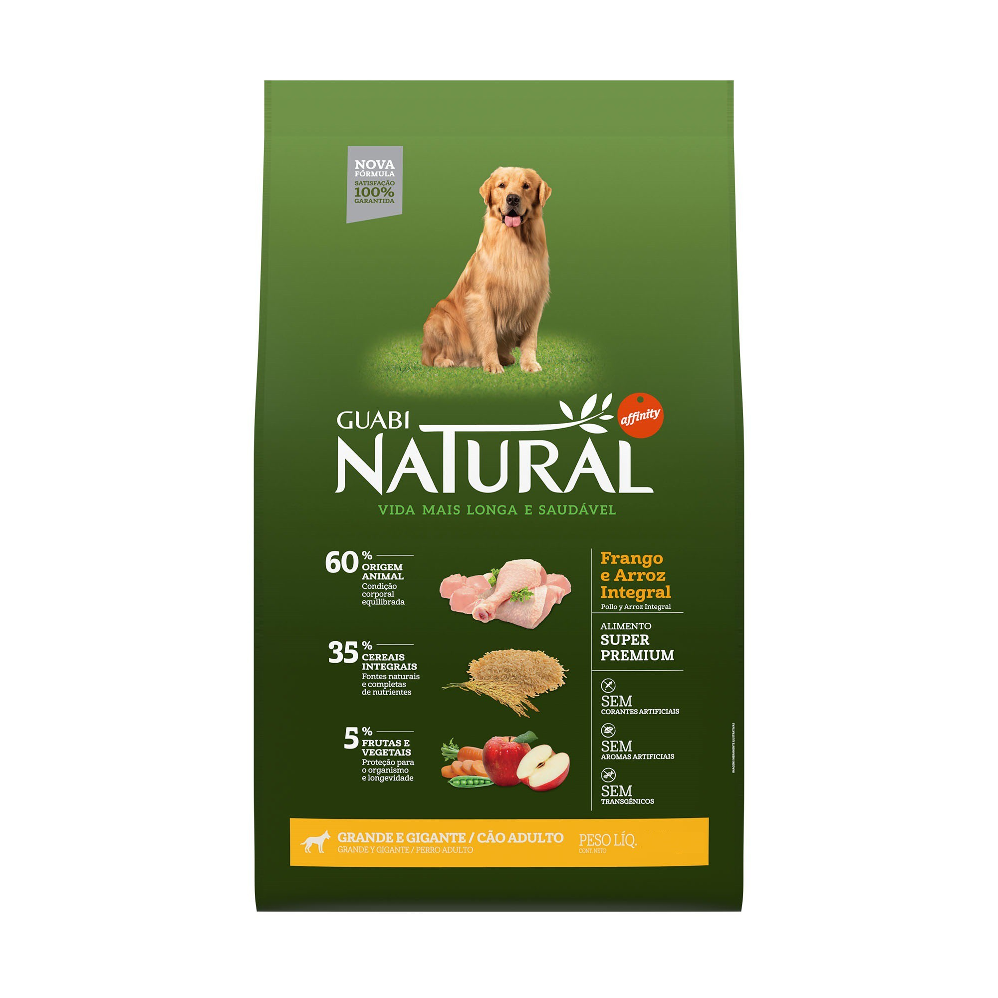 NATURAL CÃO ADULTO FRANGO GRANDE