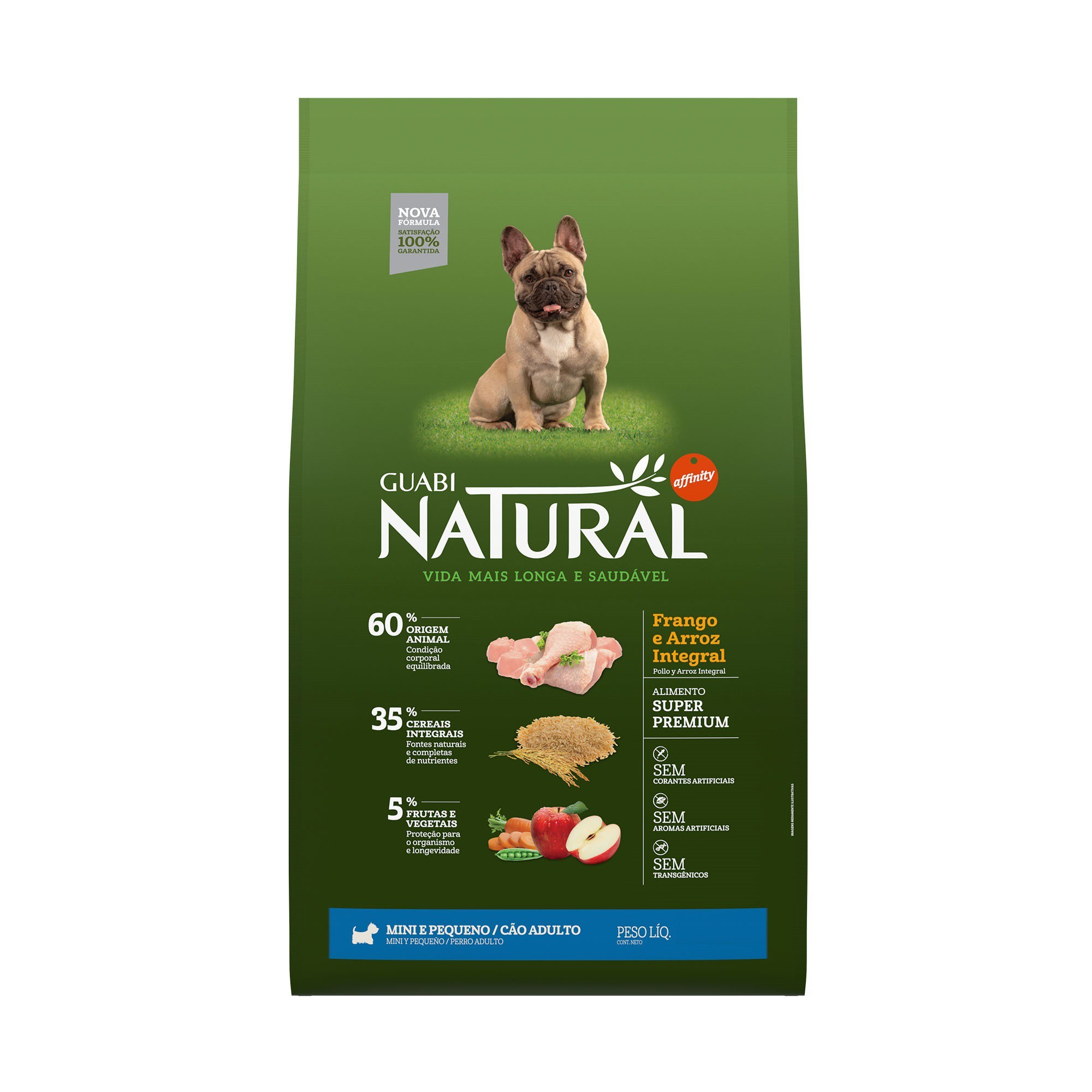 NATURAL CÃO ADULTO FRANGO MINI E PEQUENO