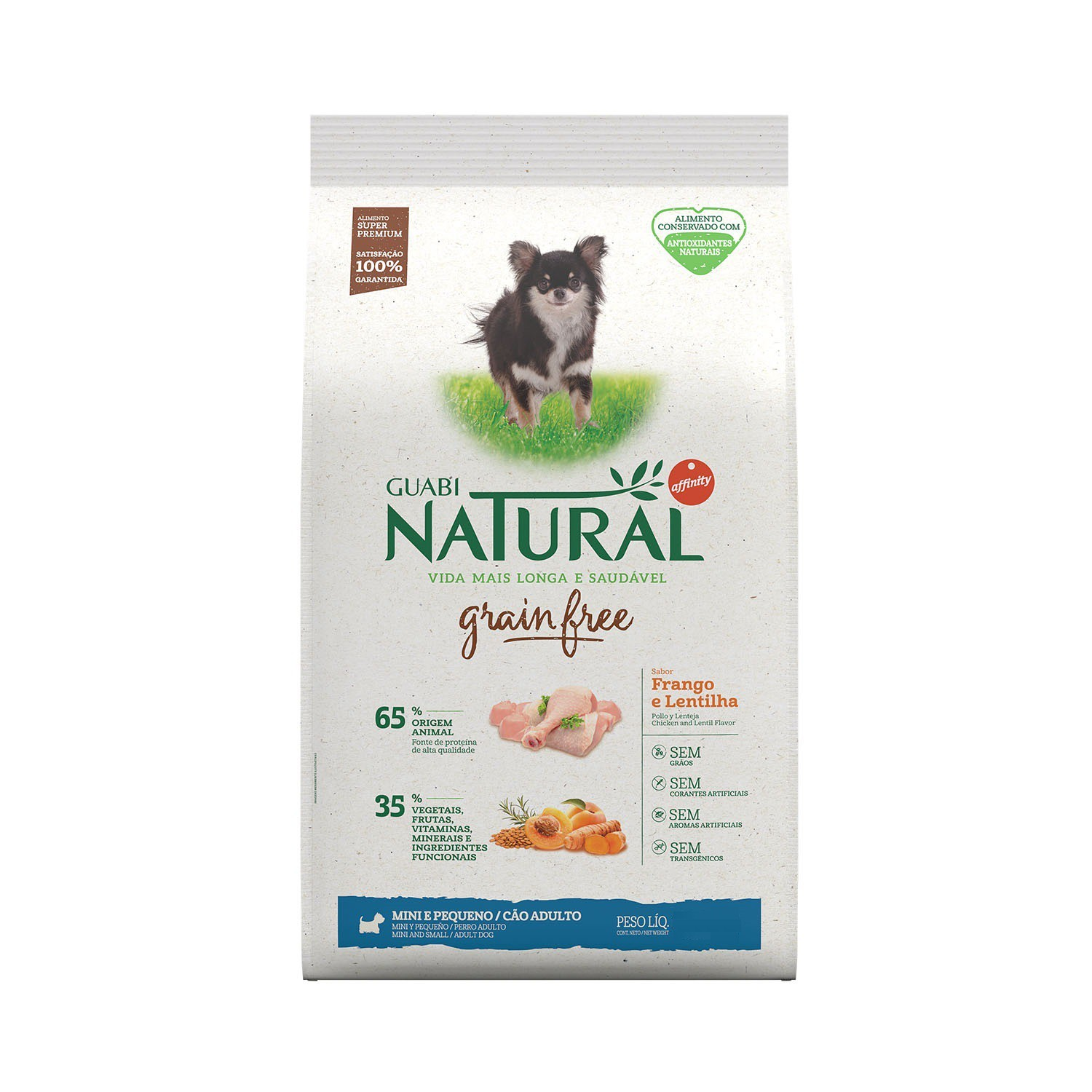 NATURAL GRAIN FREE CÃO FRANGO MINI E PEQUENO