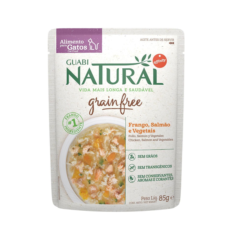 NATURAL SACHÊ GATO GRAIN FREE CASTRADO SALMÃO 85 g