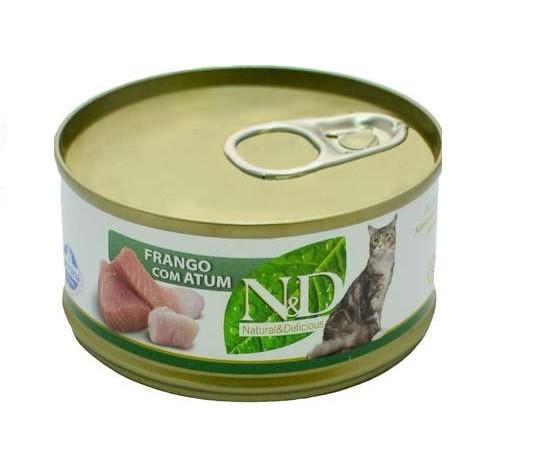 ND FELINE LATA FRANGO COM ATUM 70 g