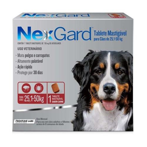 NEXGARD 25,1 a 50 Kg 136 mg
