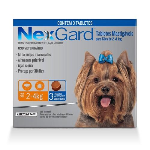 NEXGARD COM 3 UNIDADES 2 a 4 Kg 11,3 mg