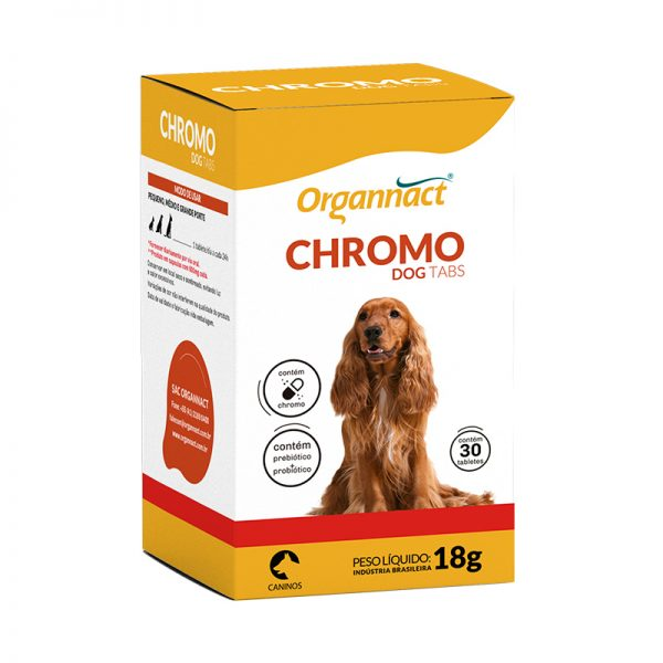 ORGANNACT CHROMO DOG TABS 18g COM 30 COMPRIMIDOS