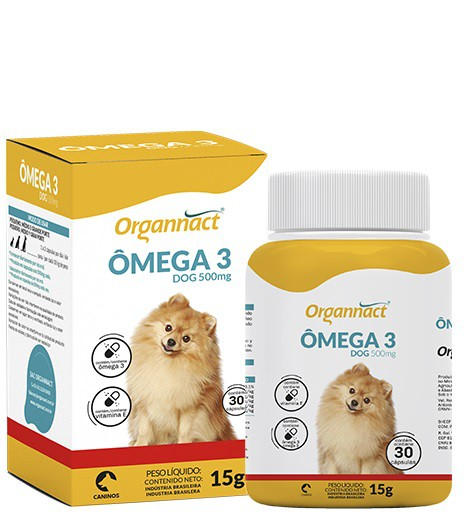 ORGANNACT ÔMEGA 3 DOG 500 mg 15g COM 30 COMPRIMIDOS