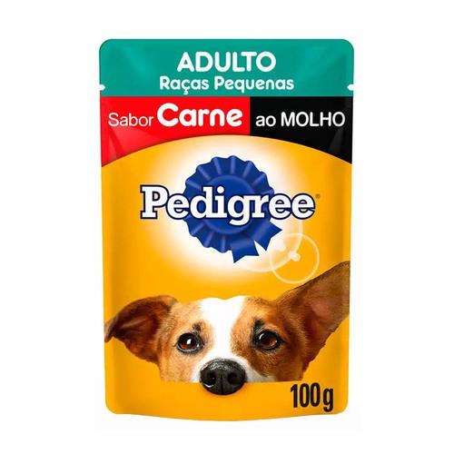 PEDIGREE SACHÊ CARNE RAÇAS PEQUENAS 100 g