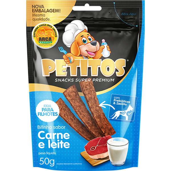 PETITOS BIFINHO CARNE LEITE 50g