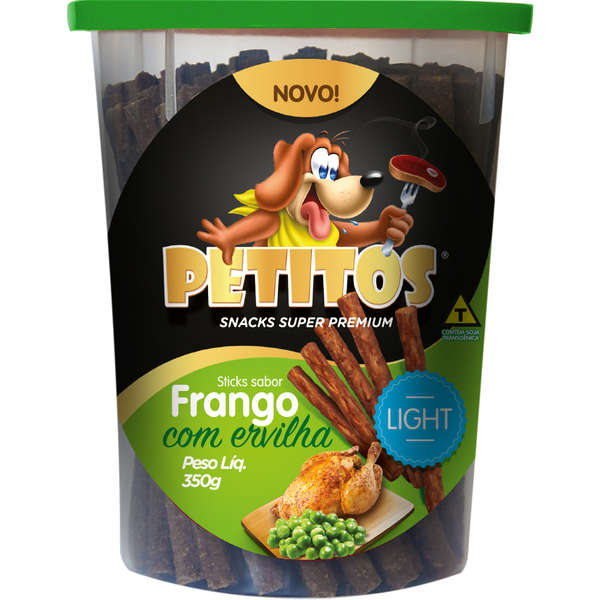 PETITOS STICK LIGHT FRANGO ERVILHA 350g