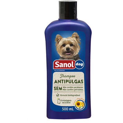 SANOL DOG SHAMPOO ANTIPULGAS 500mL