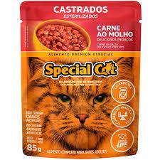 SPECIAL CAT SACHE CASTRADO CARNE 85 g
