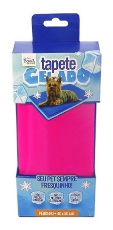 TAPETE GELADO THE ICE PAD 40 x 50cm PEQUENO ROSA