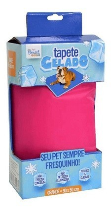 TAPETE GELADO THE ICE PAD 90 x 50cm GRANDE ROSA
