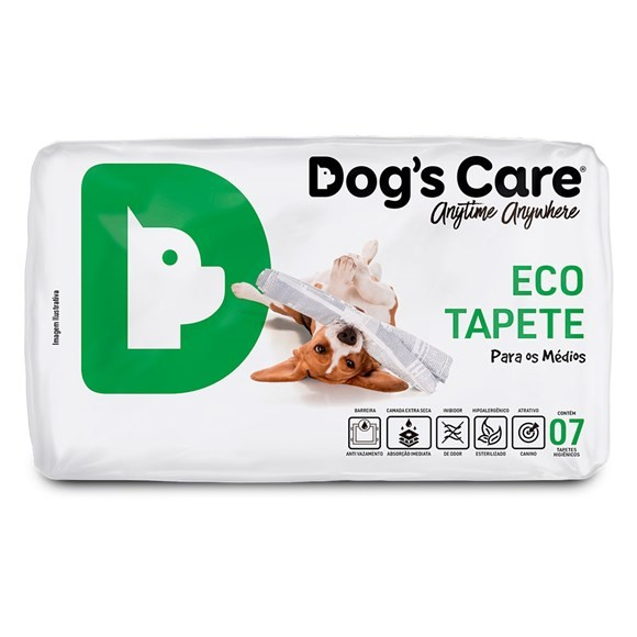 TAPETE HIGIÊNICO DOG?S CARE COM 07 UNIDADES