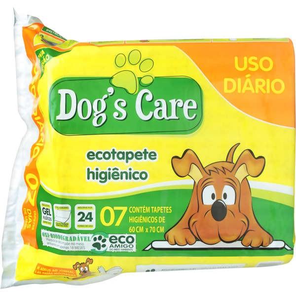 TAPETE HIGIÊNICO DOG?S CARE USO DIÁRIO COM 07 UNIDADES