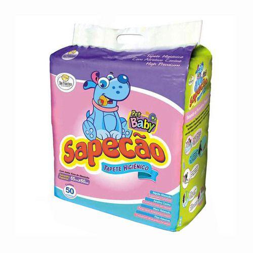 TAPETE HIGIÊNICO SAPECÃO BABY COM 50 UNIDADES