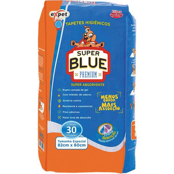 TAPETE HIGIENICO SUPER BLUE 30 UNIDADES
