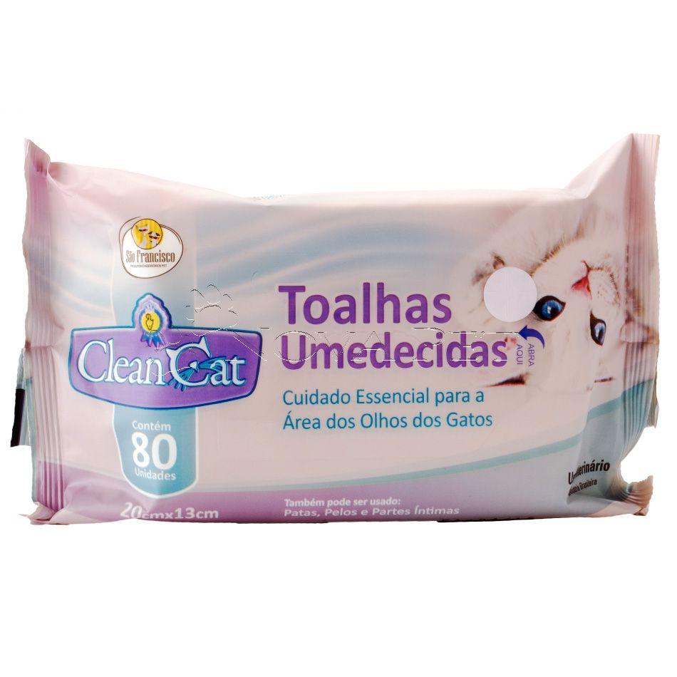TOALHAS UMEDECIDAS CLEAN CAT AREA DOS OLHOS 80 UN