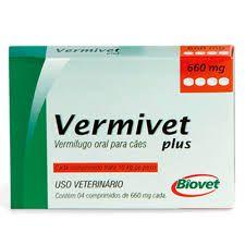 VERMIVET PLUS 660mg 10Kg COM 4 COMPRIMIDOS