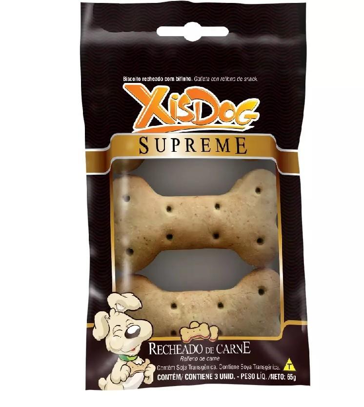 XISDOG SUPREME RECHEADO DE CARNE 65g