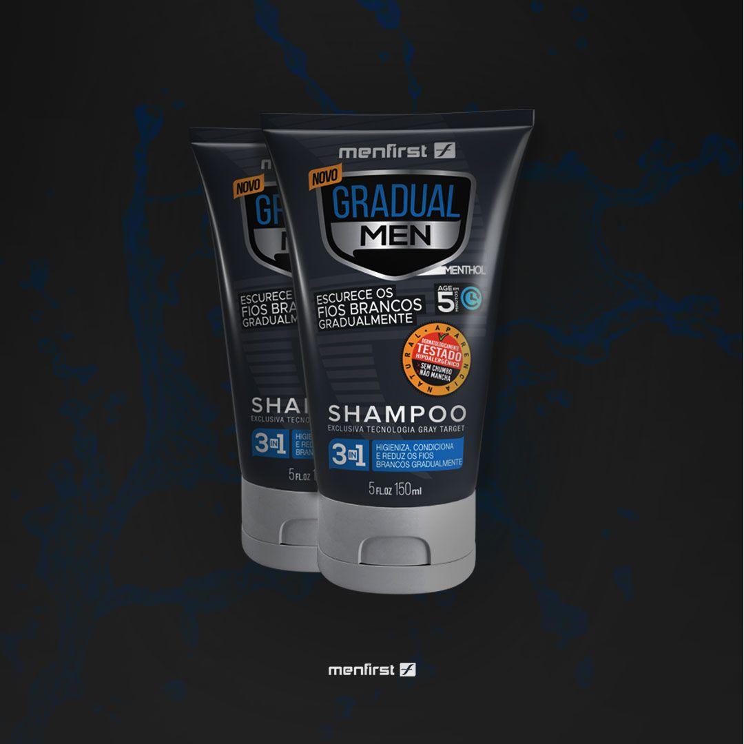 Shampoo Gradual Men Cabelo (2x)