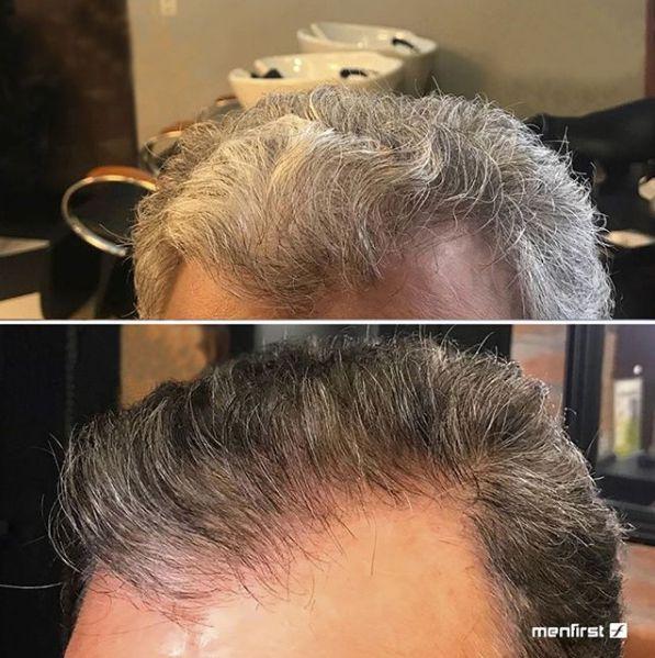Shampoo Gradual Men Cabelo - 3 em 1 - Limpa, condiciona e escurece gradualmente cabelos brancos (2x)