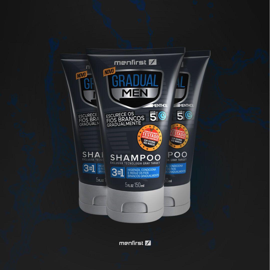 Shampoo Gradual Men Cabelo (3x)