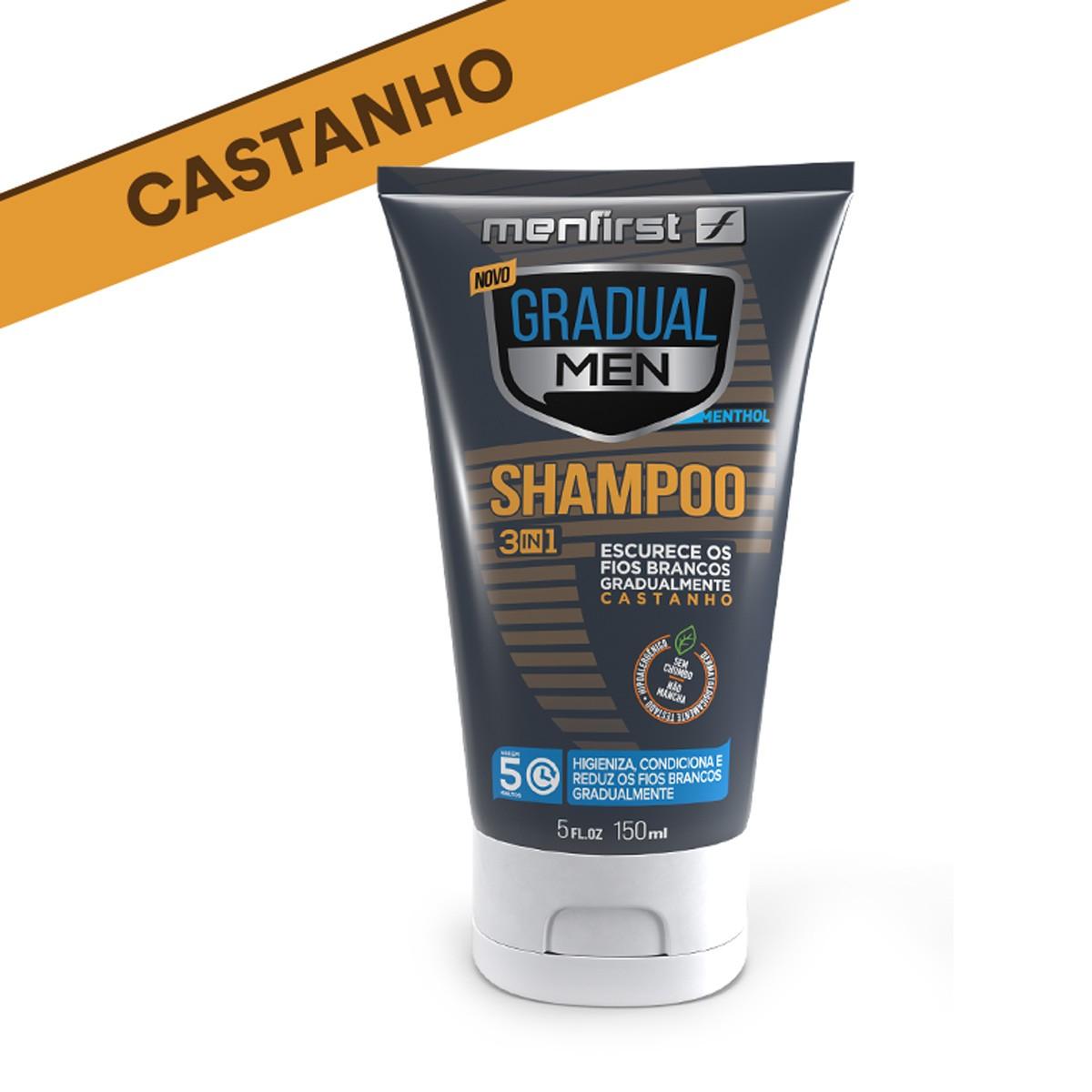 SHAMPOO GRADUAL MEN CASTANHO - CABELO