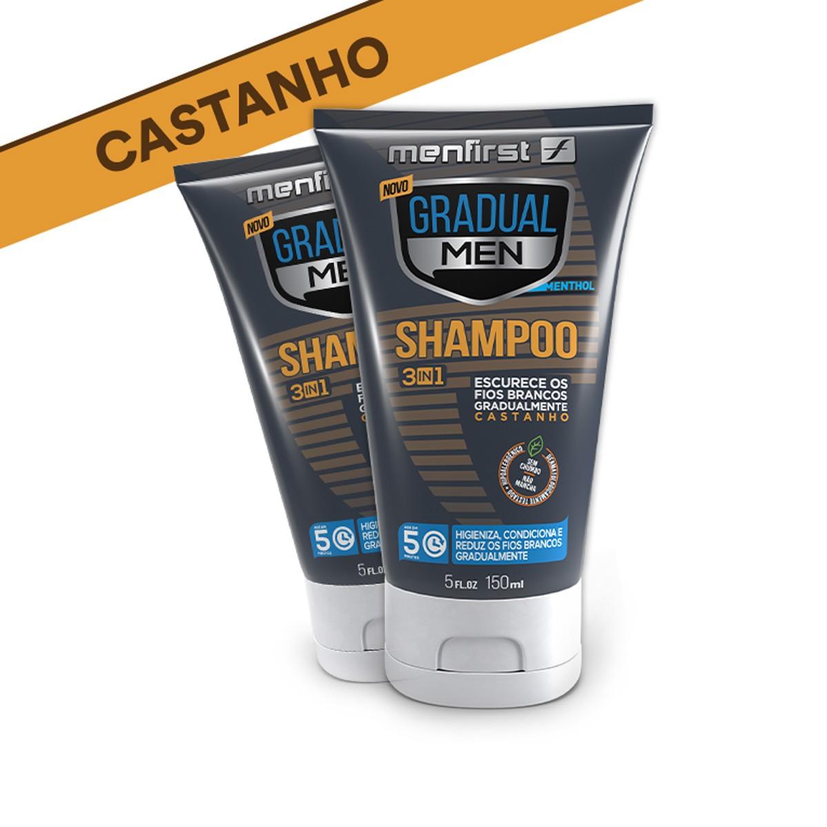 SHAMPOO GRADUAL MEN CASTANHO - CABELO (2x)