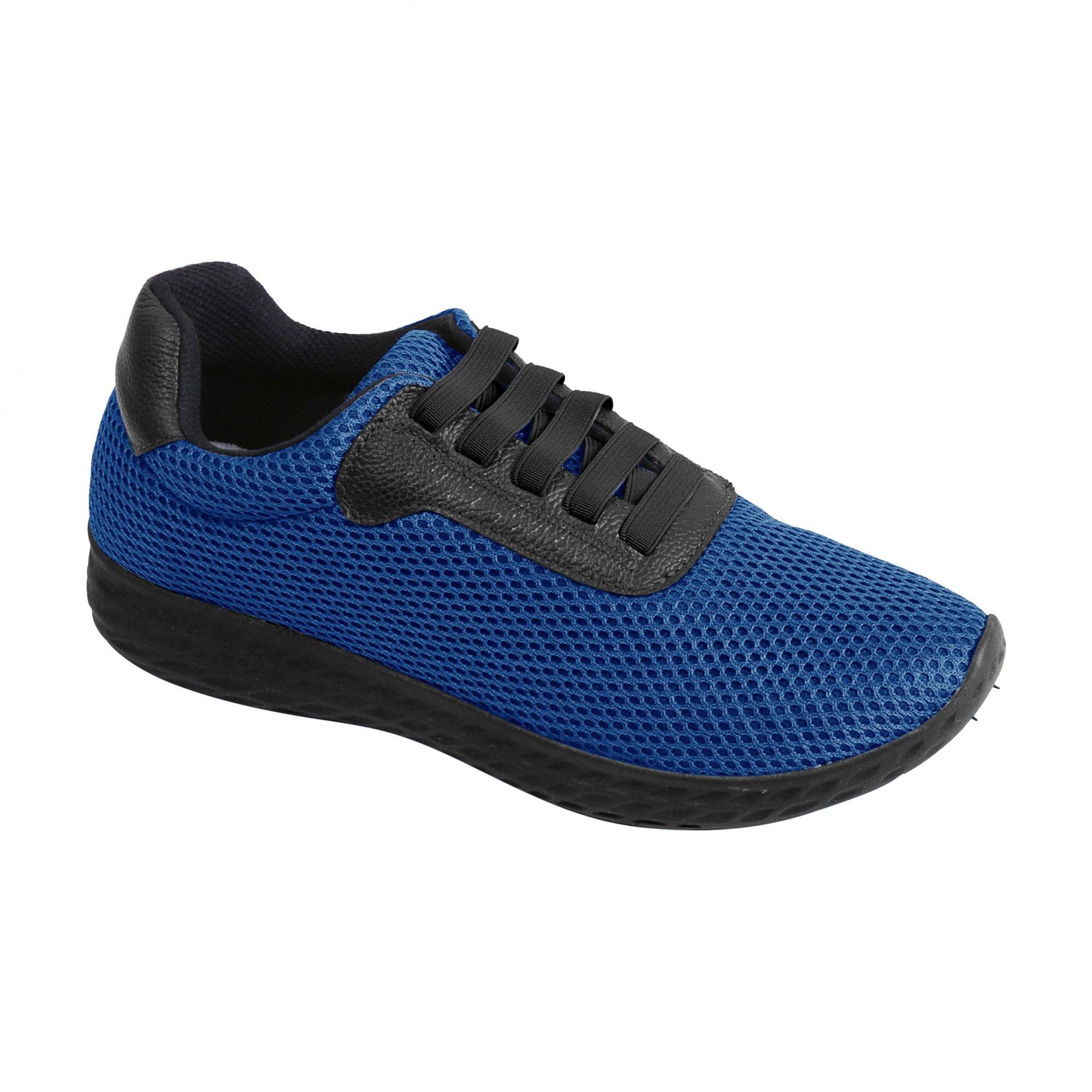 Tênis Confort 16808 Couro Azul  - GrupoItalianinho
