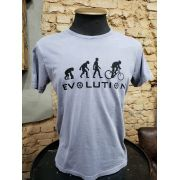 CAMISETA AZUL JEANS ESTONADA EVOLUTION